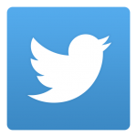 Twitter icon white and blue background
